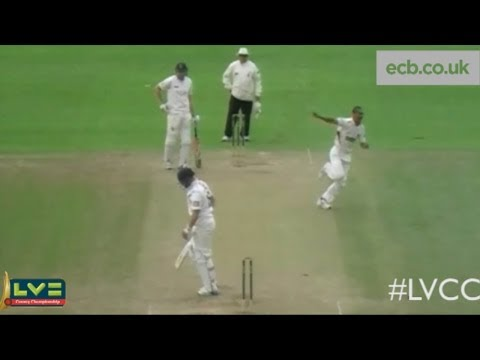 Alfonso Thomas four wickets in four balls for Somerset against Sussex