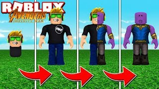 TRANSFORMING INTO THANOS in ROBLOX SUPER VILLAIN TYCOON / BLOX4FUN
