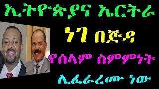 Ethiopia : ኢትዮጵያና ኤርትራ ነገ በጅዳ የሰላም ስምምነት ሊፈራረሙ ነው