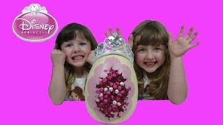 Bashing Disney Princess Giant Chocolate Surprise Egg Princess Toys Inside Candy & Toy Review #2
