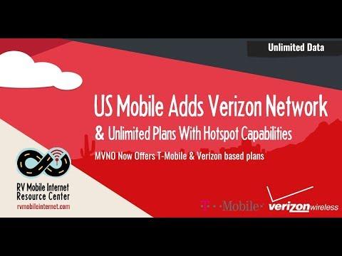 US Mobile Introduces Verizon Unlimited Data Plans w/ Mobile Hotspot -  $47-75/mo