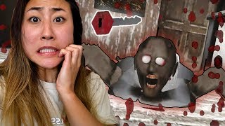 5 DAY CHALLENGE AT GRANNY'S HOUSE!! (HORROR GAME FUNNY MOMENTS)
