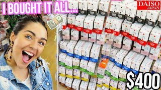 SHOPPING FOR SLIME SUPPLIES DAISO STORE! (i bought $400 of CLAY....) 😱😱