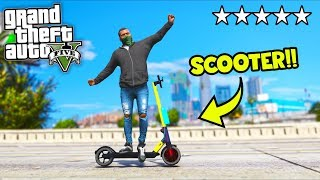 I got a NEW scooter, but can it lose the COPS?! (GTA 5 Mods Gameplay)