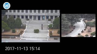 CCTV footage of North Korean defector at Panmunjeom