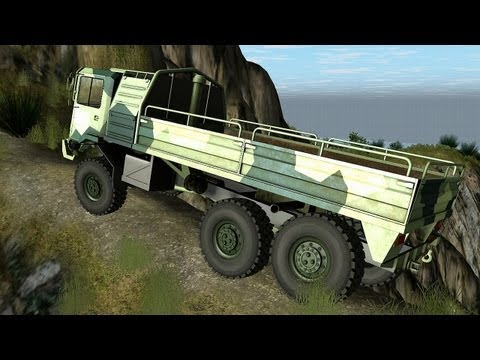 Rigs of Rods - Sisu SA-240 6x6 Off Road on Trail Island
