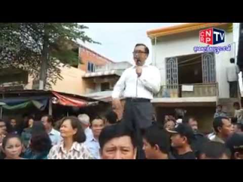 CNRP Leader Meet the Peoples live on the Railway