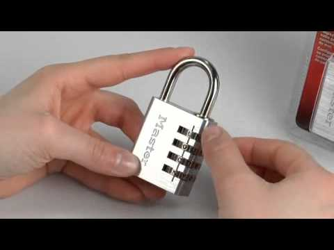 Operating the Master Lock 643DWD Password Combination Lock
