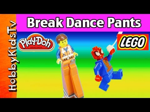 LEGO Emmet and Spiderman Break Dance Pants Superman Batman Wonder Woman HobbyKidsTV