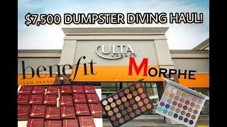 HUGE $7,500 ULTA DUMPSTER DIVING HAUL! BRAND NEW BENEFIT MAKEUP! *shocking*