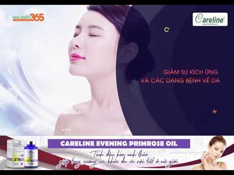 Careline Evening Primrose Oil 1000mg – Tinh dầu hoa anh thảo giúp tăng cường sức khỏe da và nội tiết nữ giới