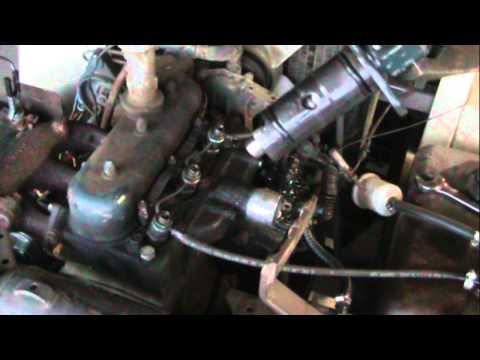 diesel injector pump leak repair kubota grasshopper.wmv