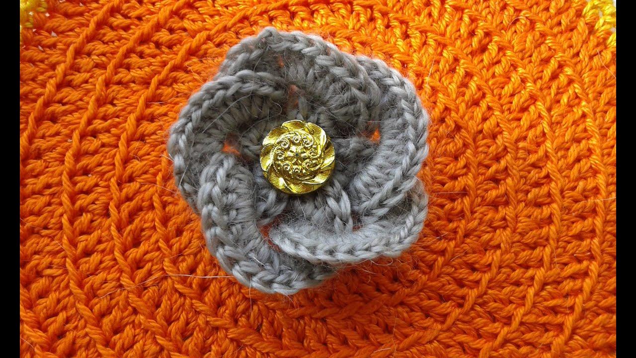Видеоурок по вязанию простого цветка