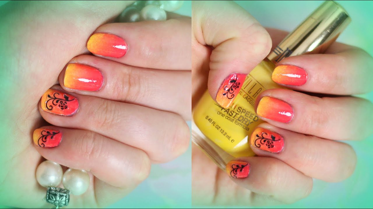 Summer Sunset Ombre Nails