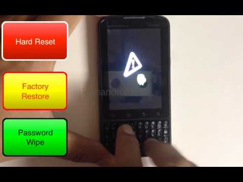 How to Hard Reset Factory Restore Password Wipe the Motorola Droid Pro Verizon tutorial