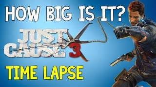 How Big is Just Cause 3 | Time Lapse Walk Across Medici