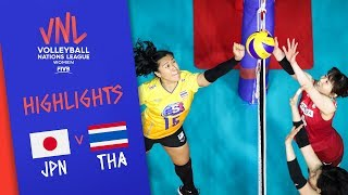 JAPAN vs. THAILAND - Highlights Women | Week 4 | Volleyball Nations League 2019