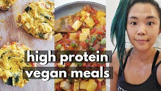 WHAT I ATE IN A DAY (HIGH PROTEIN VEGAN MEALS) / Staying Fit in Quarantine