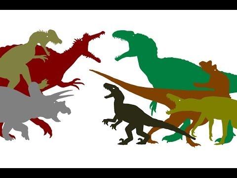 Oxalaia vs Acrocanthosaurus vs Raptor vs Dilo vs Ceratosaurus vs Baurusuchus Music Videos