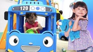 타요와 뽀로로를 만났어요! 타요 실내 놀이터 장난감 동요 율동 Tayo Bus Car Kids Cafe Toys Play おもちゃ 라임튜브 Игрушки