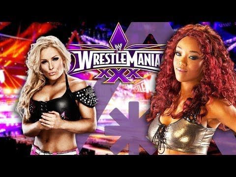 WWE Divas NATALYA & ALICIA FOX at WrestleMania XXX
