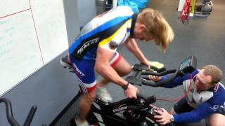 Luke Gamble v Wattbike 6 sec max power test