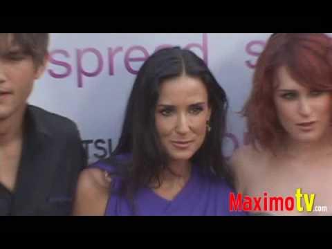 Demi Moore, Rumer Willis, Ashton Kutcher  at 'SPREAD' Premiere August 3, 2009