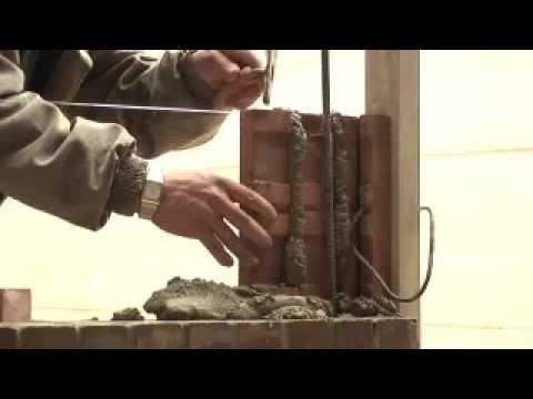 Proceso constructivo de un muro en ladrillos youtube - Construccion de chimeneas de ladrillo ...