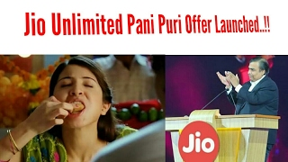 Jio Unlimited Pani Puri Golgappe Offer Launched
