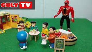 Doremon đồ chơi vui #6 - Nobita siêu nhân hải tặc phát nước ép trái cây - doraemon toy for kid