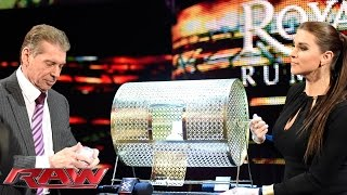 The McMahon family reveals the No. 1 entrant in the 2016 Royal Rumble Match: Raw, January 18, 2016
