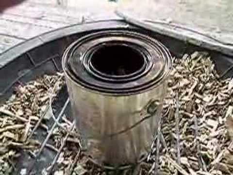 Simple biochar making gasifier