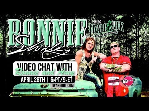 Video #CMChat Twangout with Ronnie and Amy Shirley from Lizard Lick Towing
