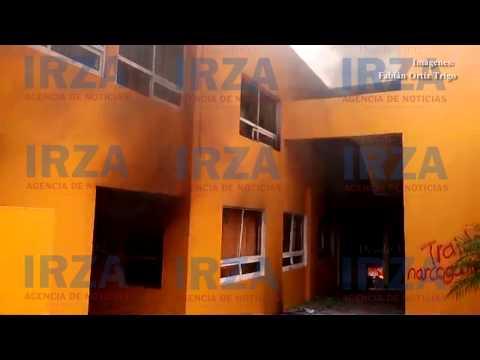 Incendian Oficinas del PRD en Chilpancingo