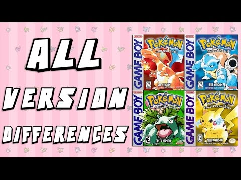 All Version Differences in Pokemon Red, Blue, Green & Yellow