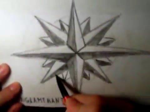 Видео как нарисовать восьмиконечную звезду