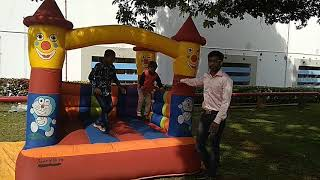 Kids entertaining game stall Small bouncy castle jumping castle MC Thamizh at Hosur Contact 90030871