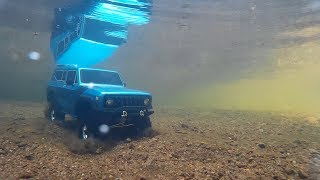 Rc redcat gen 8 driving under water,test.