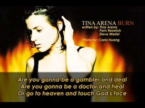 Tina Arena   Burn Piano and Lyrics
