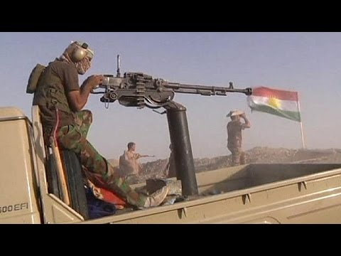 Kurdish fighters push to retake Mosul Dam from Islamic State militants