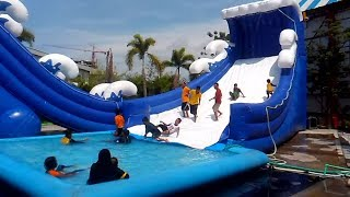 Istana Balon Kolam Air, Balloon Water Slide at Gofun WaterPark