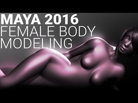 MAYA 2016 FEMALE BODY character modeling tutorial