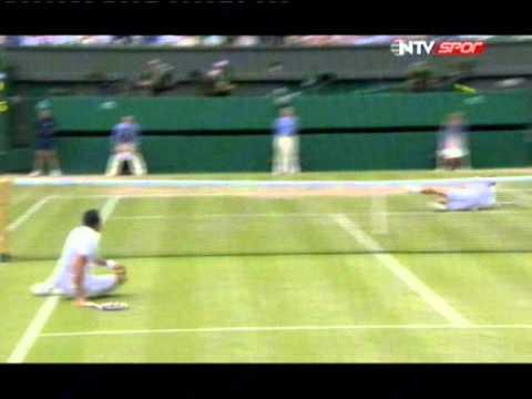 Novak Djokovic vs. Jo-Wilfried Tsonga Unbelievable Point | Wimbledon 2011
