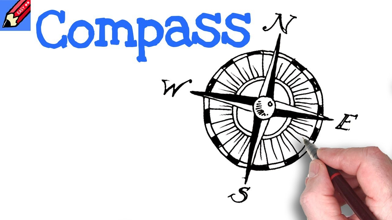 Compass Watch Drawing How to Draw a Compass Design