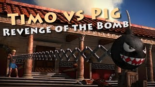 Timo vs Pig - Revenge of the Bomb ( my 1st 3D animated short movie )