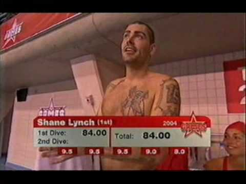 Boyzone - Shane Lynch on The Games 2004 vs 2005 vs 2006 - Diving event
