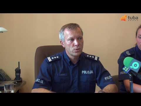 Wybryki chuligańskie w Brzegu komendat policji briefing prasowy