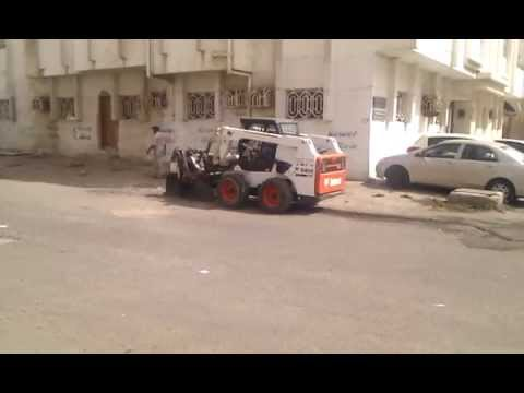 Expat Workers Video Working on Road Cutting Machine Saudi Arabia