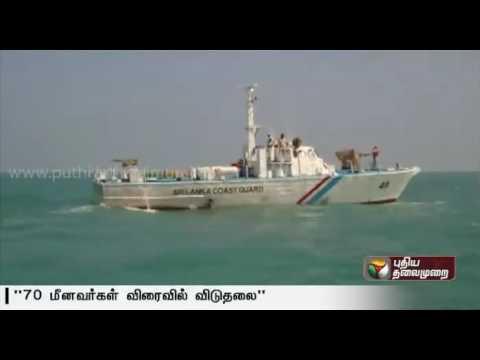 Sri Lankan Navy to release 70 Indian Fishermen