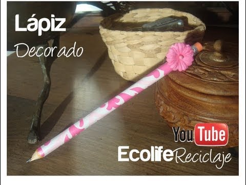 Como decorar un lapiz..FACIL
